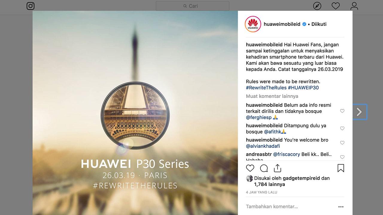 Tanggal Peluncuran Huawei P30 Series Akhirnya Ditetapkan
